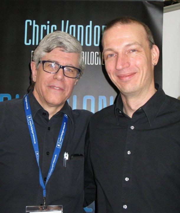 Chris Vandoni und Lektor Dr. Gregor Ohlerich