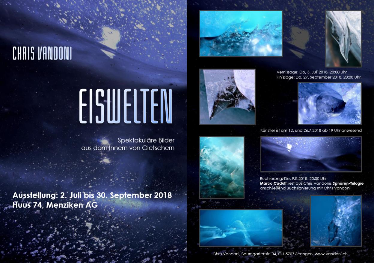 Flyer zur Ausstellung EISWELTEN